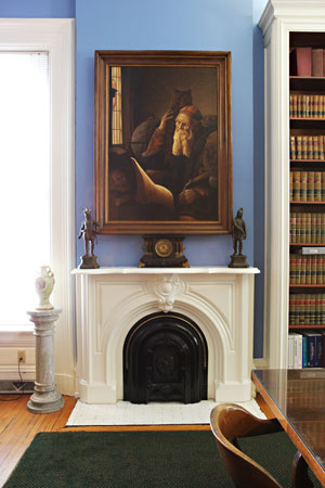 Shutt Mansion Library Fireplace